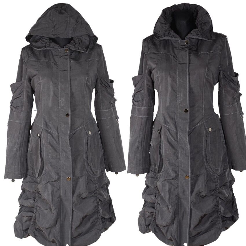 DAMEN LAGENLOOK GEFÜTTERT ÜBERGANG WINTER MANTEL 38 40 42 44 46 S M L XL TRENCH