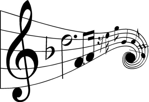 """MUSIC NOTES Vinyl Wall Decal Lettering Words Quote Sticker Decor 36/"""""""