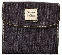 $168 Dooney & Bourke Signature Anniversary Credit Card Wallet Charcoal/black