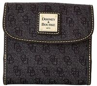 $168 Dooney & Bourke Signature Anniversary Credit Card Wallet Charcoal/black