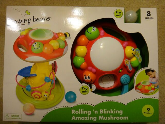 Jumping Beans Rolling N Blinking Amazing Mushroom Toy NEW