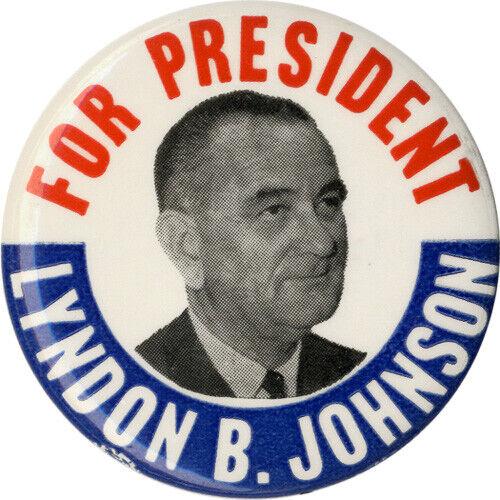 1020 1964 Lyndon Johnson Campaign Button ~ Classic Design!