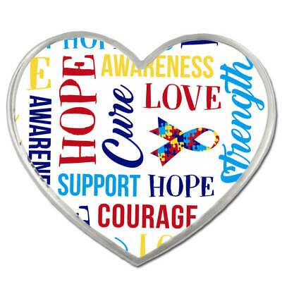 PinMart Red Heart w//Words Heart Disease Awareness Hope Enamel Lapel Pin