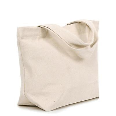Cotton Canvas Grocery Tote Bag Natural