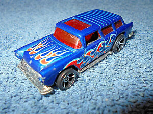1969 HOT WHEELS CHEVY NOMAD 1:64 BLUE WITH RED & ORANGE ...