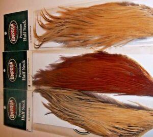 Metz-Umpqua-1-2-Capes-neck-grade-1-2-3-black-dun-brown-Dry-Fly-Hackle