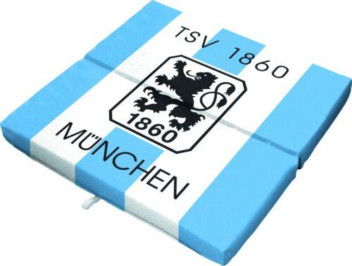Sitzklappkissen pliante Coussin Oreiller tsv 1860 Munich DRAPEAU NEUF