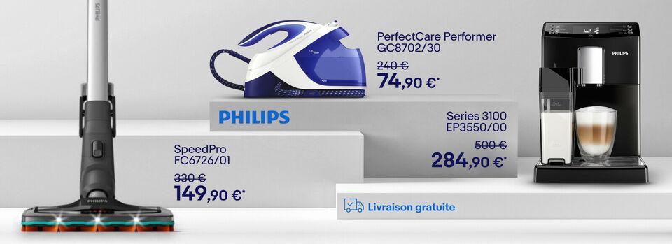 Livraison gratuite - Vente Flash Philips jusqu'à -40%