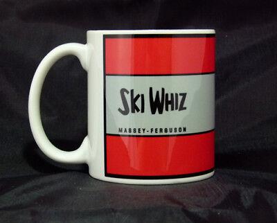 Vintage Massey Ferguson Ski Whiz Snowmobile Logo Novelty License Plate