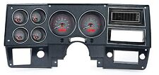 1973-1987 Chevy Truck C10 Carbon Fiber & Red Dakota Digital VHX Analog Gauge Kit