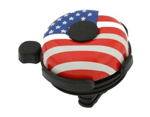 BICYCLE BIKE handle bar handlebar mount American Flag Big Flag bicycle Bell.