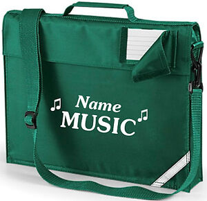 PERSONALISED FOOTBALL BOOKBAG WITH STRAP SCHOOL MUSIC BOOK BAG VERY ROOMY QD457