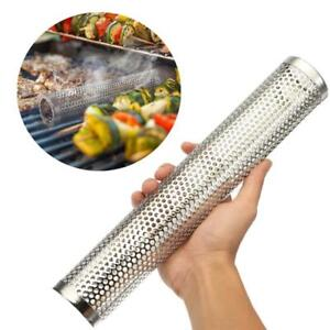 Square-Round-BBQ-Grill-Cold-Smoking-Mesh-Tube-Generator-Stainless-Pellet-Smoker