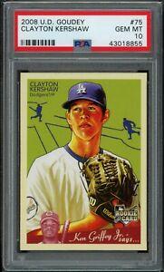 CLAYTON-KERSHAW-2008-Upper-Deck-Goudey-75-RC-Rookie-Dodgers-PSA-10-GEM-MINT