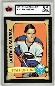 1972-73-O-Pee-Chee-197-Tim-Horton-Graded-8-5-NMM-062319-59