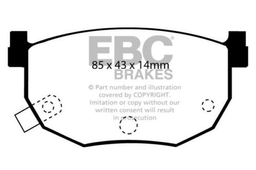 EBC Ultimax Rear Brake Pads for Hyundai Coupe 2.0 2002 /> 09