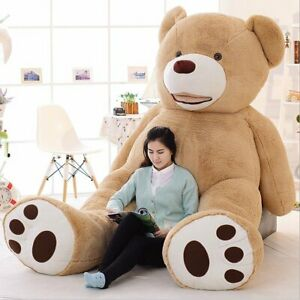 200CM-Cute-Light-Brown-Giant-Teddy-Bear-Unfilled-Plush-Toy-For-Christmas-Gift