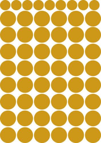 Wandtattoo Set zwei Bögen 96 große Kreise 18 Kleine Kreise Punkte Dots Konfetti