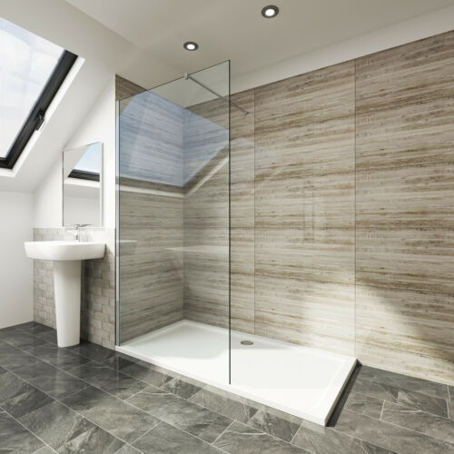 Walk In Cubicle Wet Room Shower Enclosure 6//8mm Tempered Glass Shower Screen
