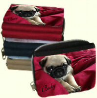 Personalised Ladies Purse with Cute Pug Picture or Add your Own Photo & Name