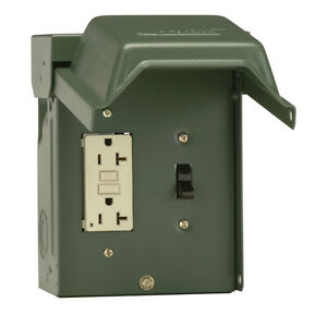 Gfi Receptacle Outlet Gfci 20 Amp Non Fusible Circuit Breaker