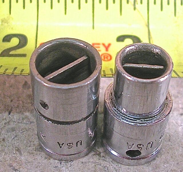 SNAP-ON TOOLS MODEL No. TM83A & TM85, 2-PIECE CARBURETOR SCREWDRIVER SOCKET SET