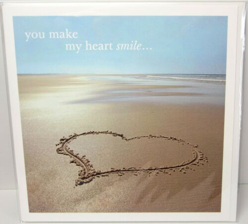 You Make My Heart Smile Quality Greetings Card Love Romantic