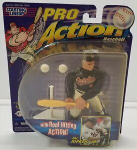 N) Cal Ripken Jr. Starting Lineup Pro Action Figure Real Hitting Action 1998