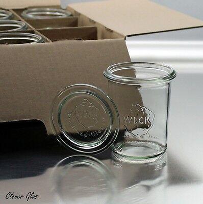 10 WECK ® Einkochgläser 160ml Mini Sturzform mit Glasdeckel - St. 99Cent
