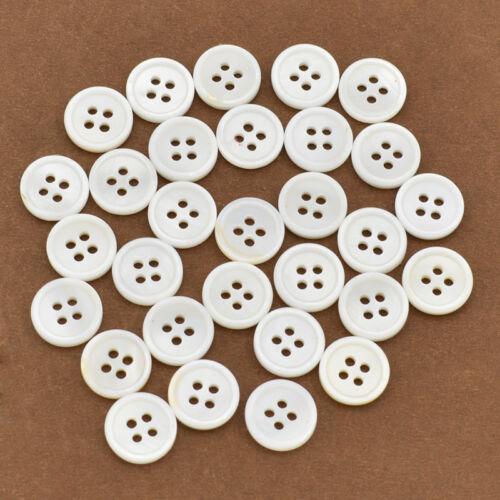 2-Loch//4-Loch Knöpfe Bastelknöpfe 30x 12mm DIY Natürliche Muschel Nähen Basteln