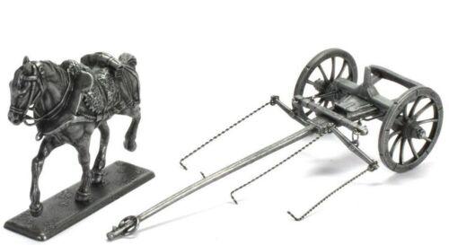Figur Soldier Napoleonic War Austerlitz Cart with horse for field gun 1//32 Atlas