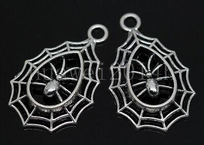 5//20//100pcs Tibet Silver Dreamcatcher Connector Jewelry Charms Pendant 34x28mm