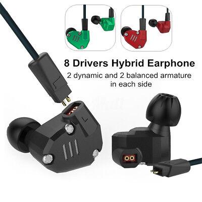 KZ ZS6 STEREO HiFi 8 Drivers 2DD + 2BA Bass In-Ear Earphone Sport Headset + MIC