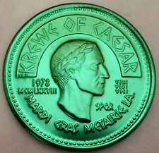 2 1978 Krewe of Freret Mardi Gras doubloons