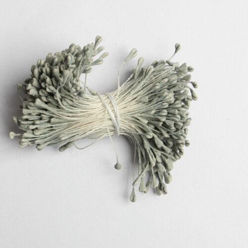 1400 Stück Blumen Kunstlich Blumen DIY Staubblätter mit zwei Perlen