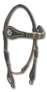 D.A. marque Medium Huile Tressé Rawhide et Conchos têtière Horse Tack-afficher le titre d`origine WgxdLs24-07152918-624794536