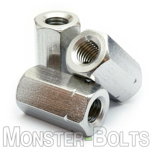 Stainless Steel Hex Coupling Nuts Metric M5 M6 M8 M10 M12 A2 18-8 DIN 6334