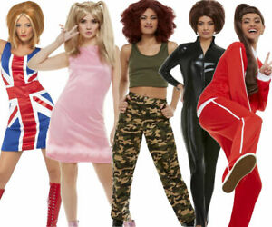 Details about Spice Girls Costume Baby Sport Geri Mel B Mel C Ladies Fancy  Dress Outfit New