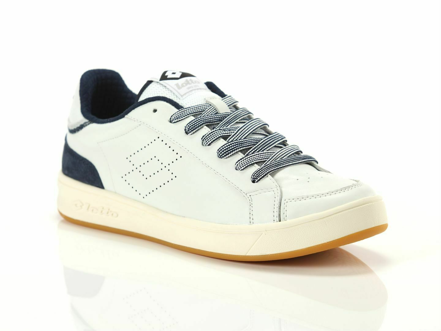 shoes Lotto Leggenda 211235 10U Pro Signature Man White dress bluee sneakers
