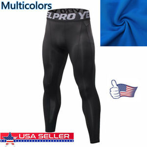 US-Men-Compression-Base-Layer-Pants-Quick-Dry-Sport-Leggings-Running-Gym-Fitness