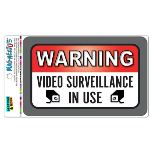 Warning Video Surveillance In Use MAG-NEATO/'S™ Vinyl Magnet Sign