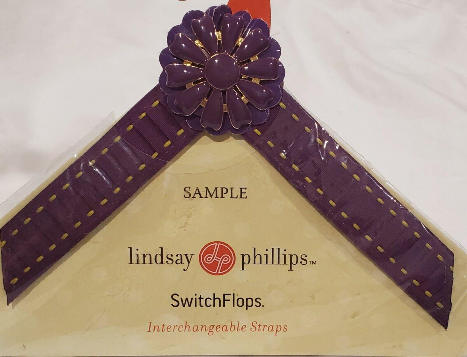 Lindsay Phillips Switchflops Straps Purple Flower Small
