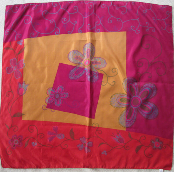 -foulard Tbeg Vintage Scarf 85 X 88 Cm