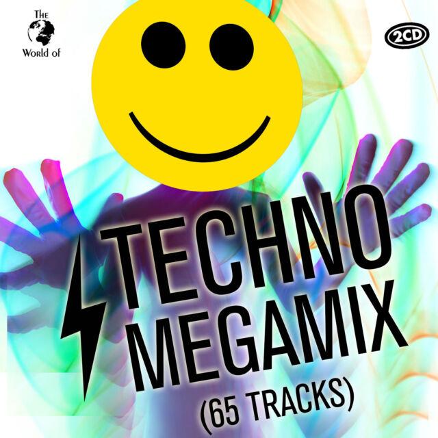 CD Techno Megamix (70 Titres) D'Artistes Divers 2CDs