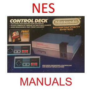 Nintendo-Entertainment-System-NES-Instruction-Manuals-amp-Posters-NO-GAMES-Used
