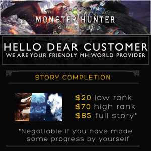 Details about PS4 | Monster Hunter World (MHW) | Story Completion Same Day!