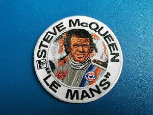 STEVE-McQUEEN-IRON-SEW-ON-PATCH-LE-MANS-GULF-HEUER-RACING-DRIVER