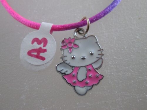 metal unique one-of-a-kind Hello Kitty Rainbow NECKLACE charm Party favors