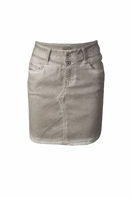 NWT New European Women Straight Gray Above-Knee Cotton Jean Skirt Tramontana M