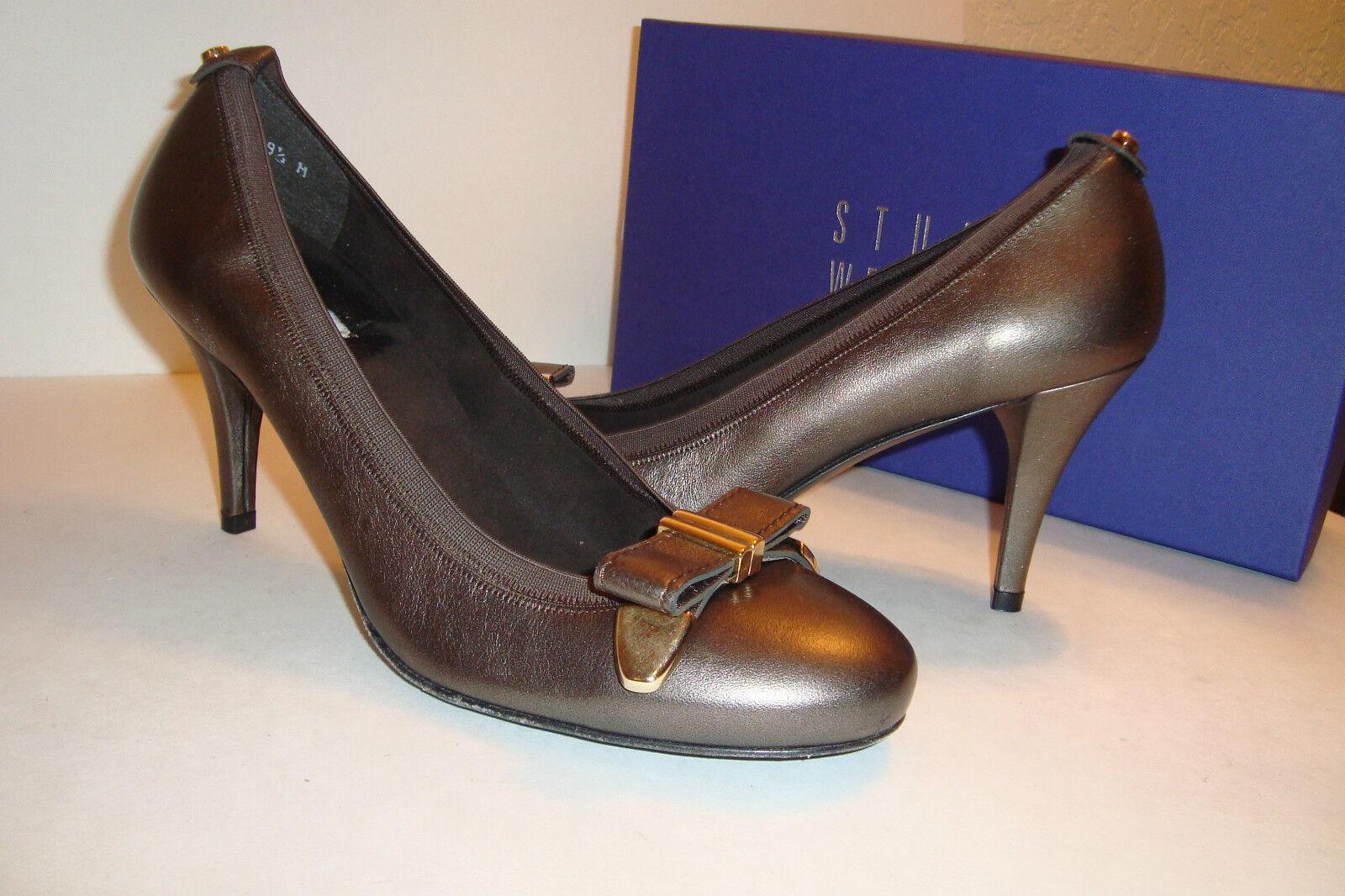 Stuart Weitzman Donna Bwana Sepia Mordore Heels Shoes 9.5 MED DISPLAY MODEL
